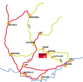 road map towards Blieux